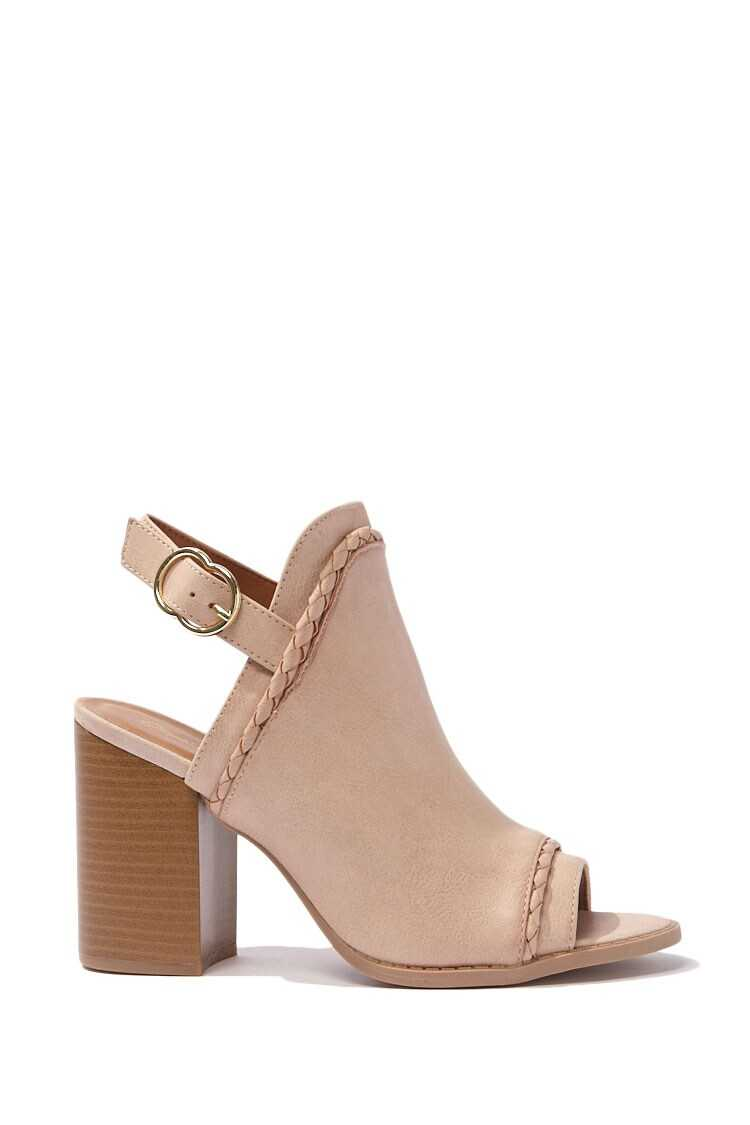 Forever 21 Faux Leather Slingback Booties