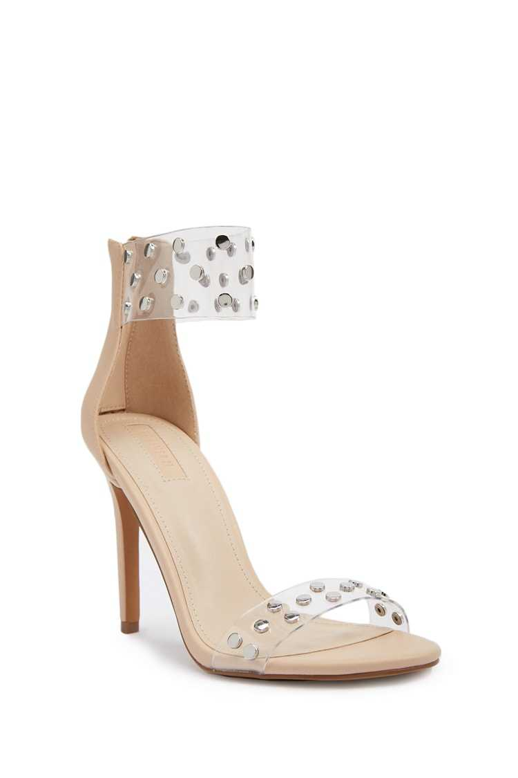 Forever 21 Faux Leather Studded Heels