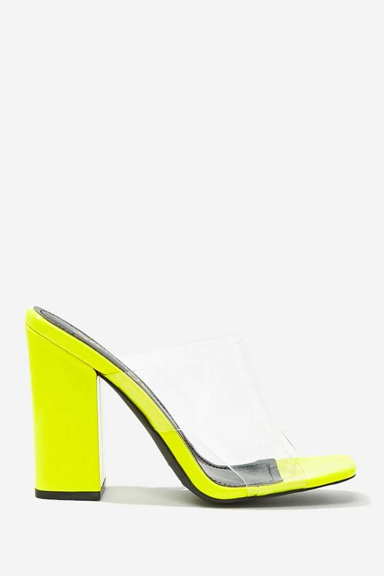 Forever 21 Faux Patent Leather Cutout Heels