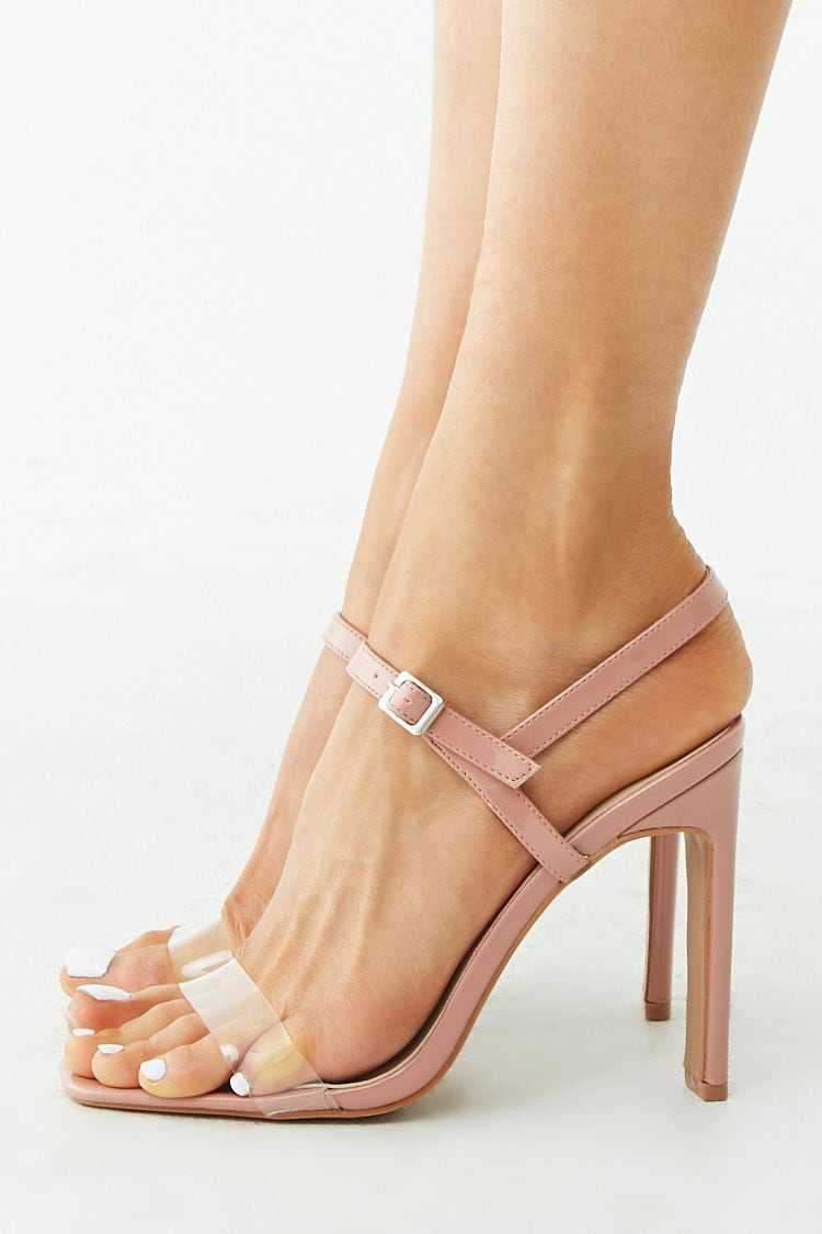 Forever 21 Faux Patent Leather Open Toe Heels