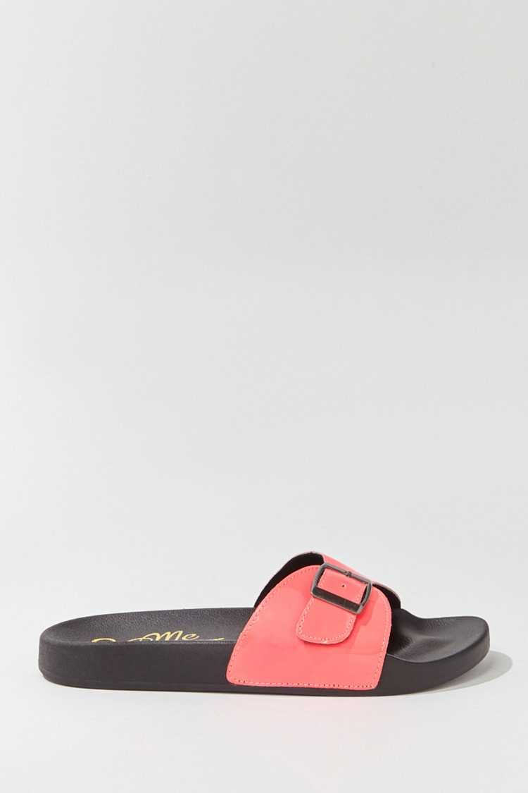 Forever 21 Faux Patent Leather Slides