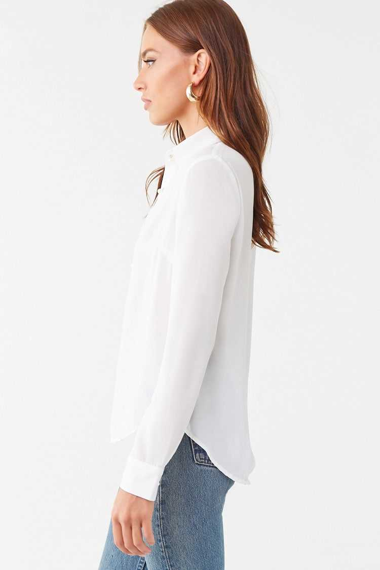 Forever 21 Faux Pearl Button-Down Shirt