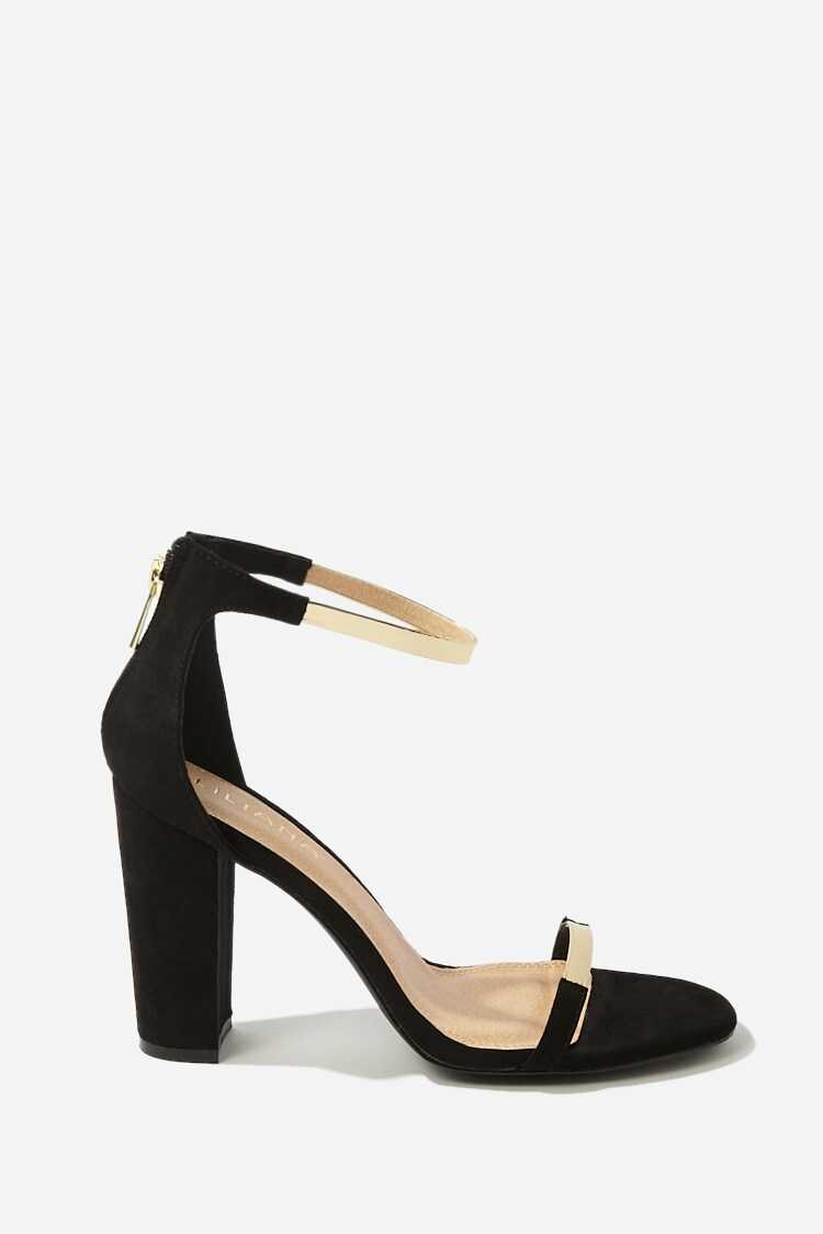 Forever 21 Faux Suede Ankle-Strap Heels