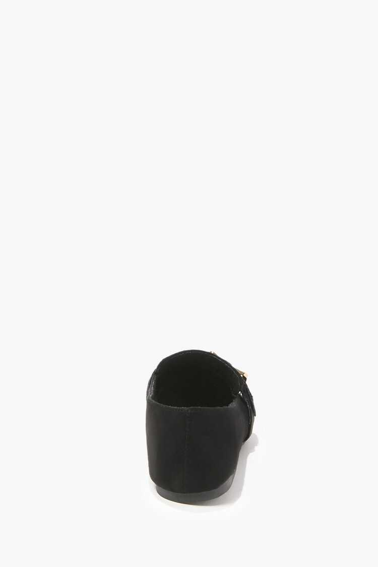 Forever 21 Faux Suede Buckled Loafers