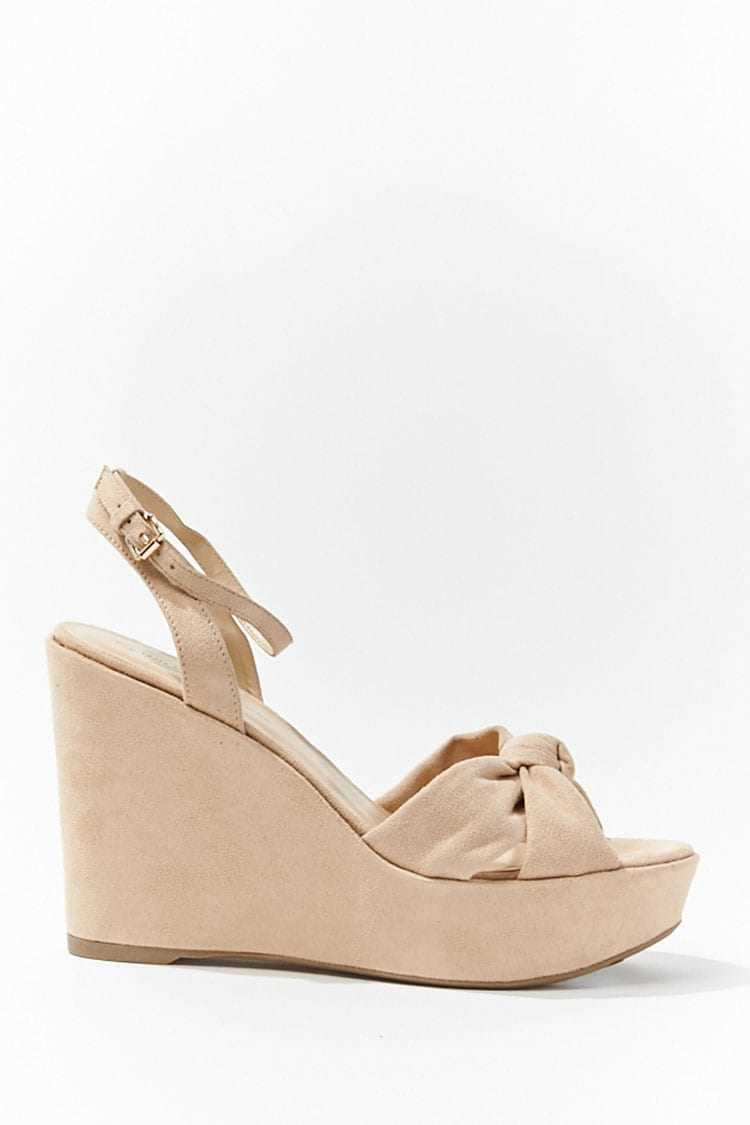 Forever 21 Faux Suede Knot-Front Wedges