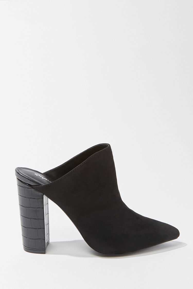 Forever 21 Faux Suede Mules
