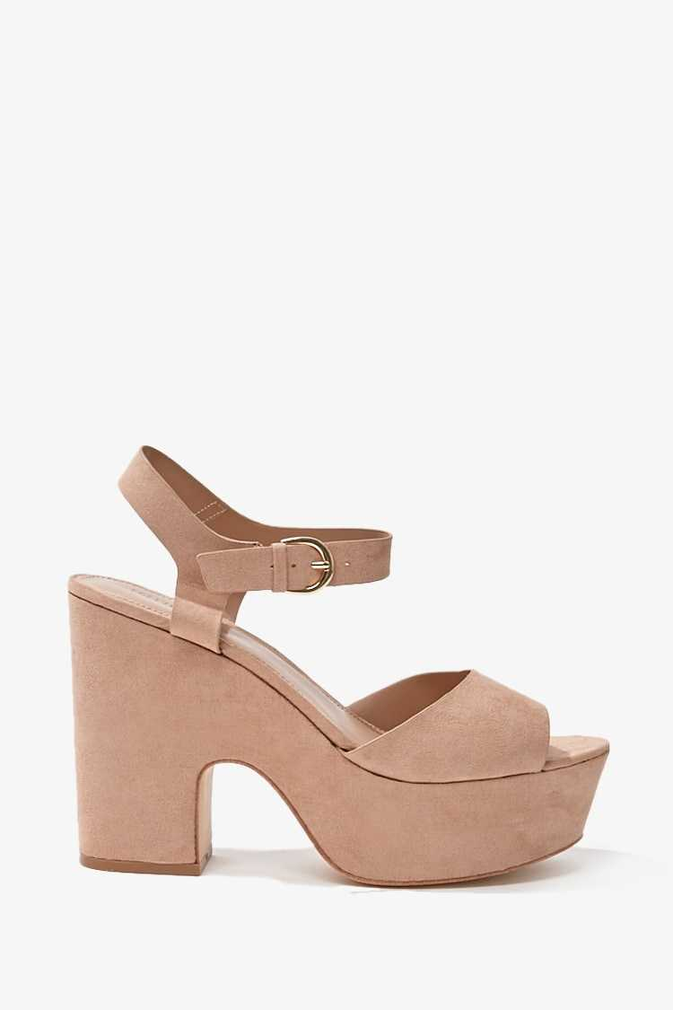 Forever 21 Faux Suede Wedges