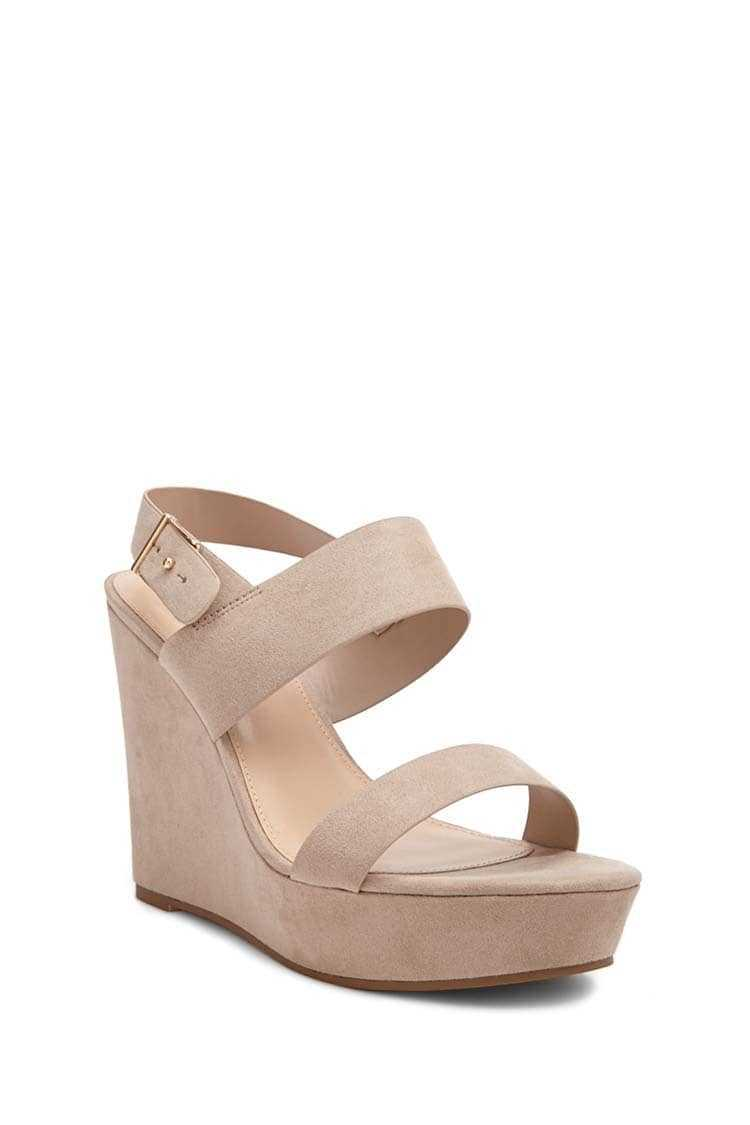 Forever 21 Faux Suede Wedges (Wide)