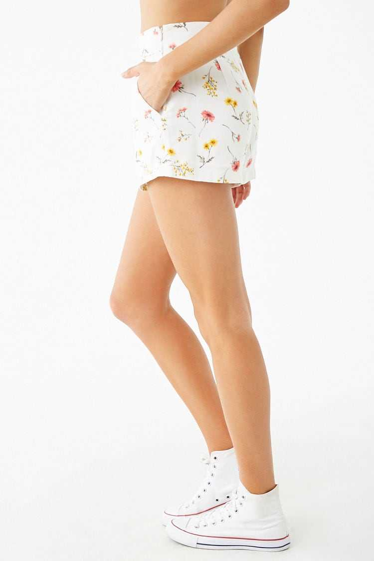Forever 21 Floral High-Rise Shorts