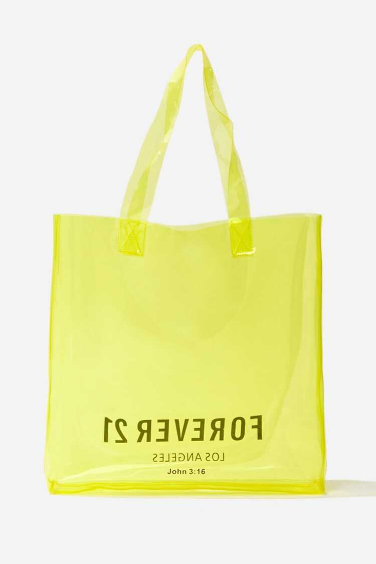 Forever 21 Forever 21 Graphic Transparent Tote Bag