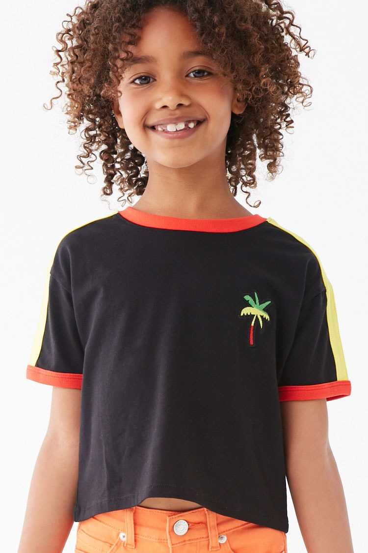 Forever 21 Girls Palm Tree Graphic Tee (Kids)