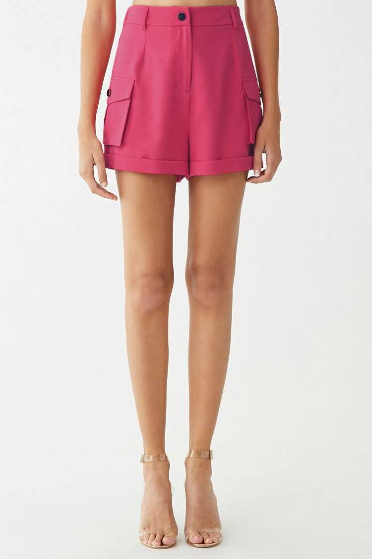 Forever 21 High-Rise Cuffed Shorts