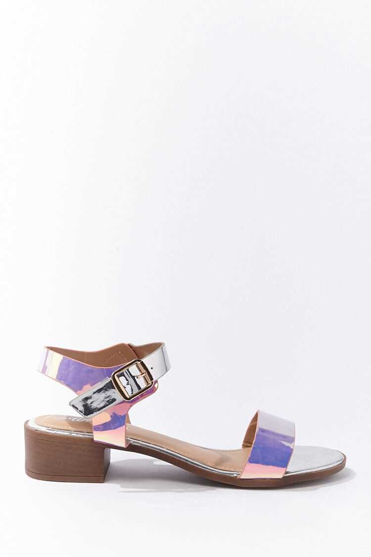 Forever 21 Iridescent Faux Patent Leather Sandals