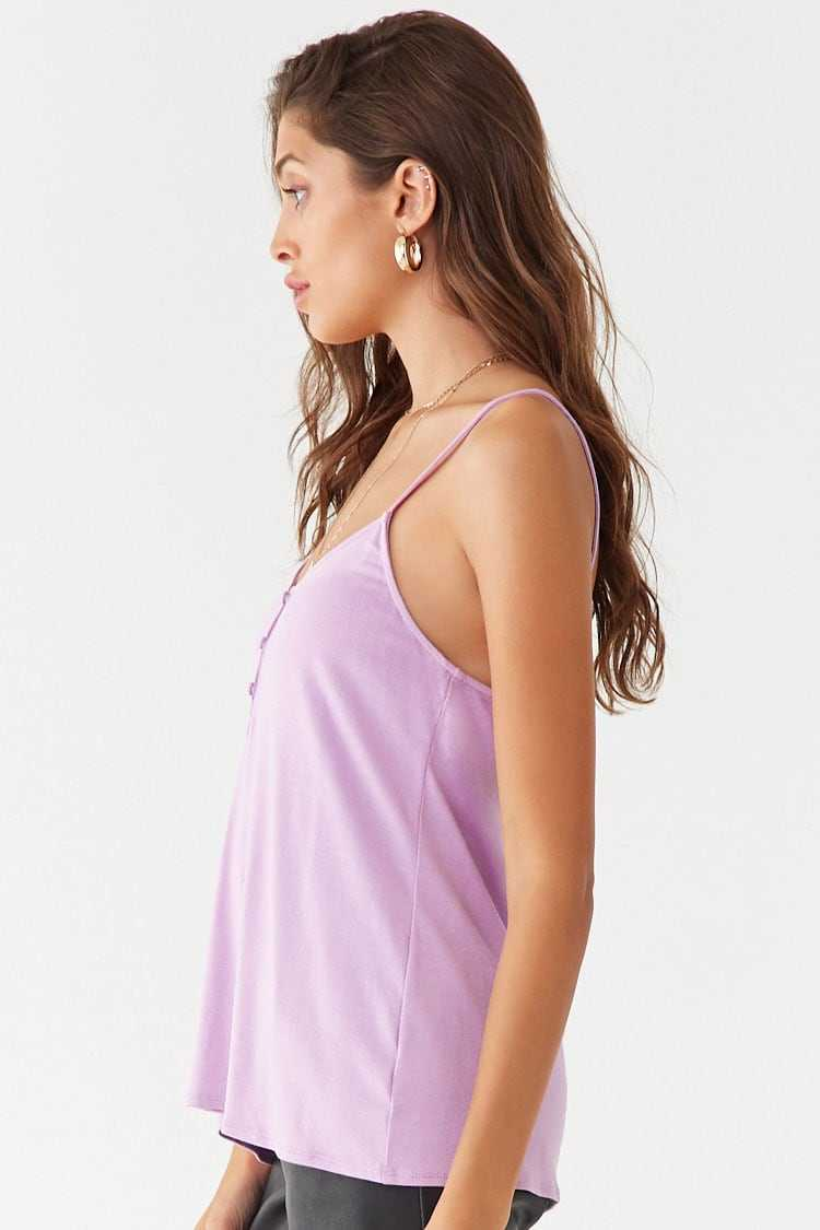 Forever 21 Knit Button-Loop Cami