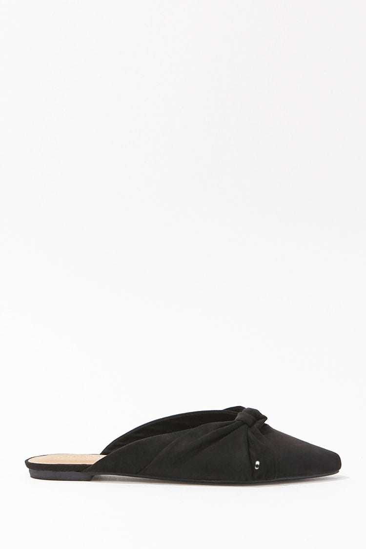 Forever 21 Knotted Faux Suede Flats