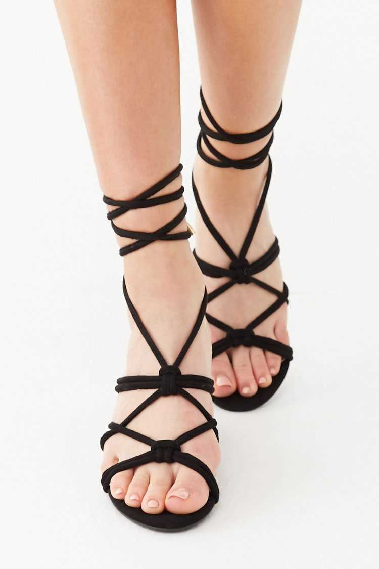 Forever 21 Knotted Lace-Up Heels