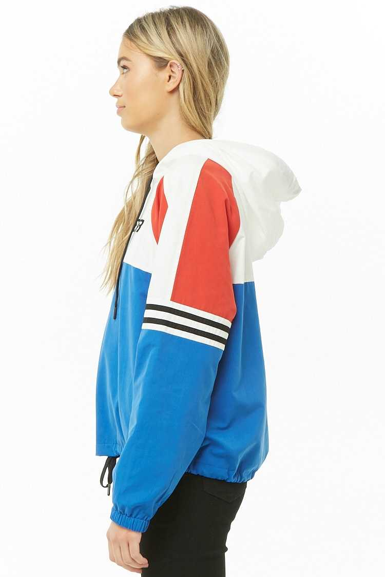 Forever 21 LA Superb Graphic Colorblock Hoodie