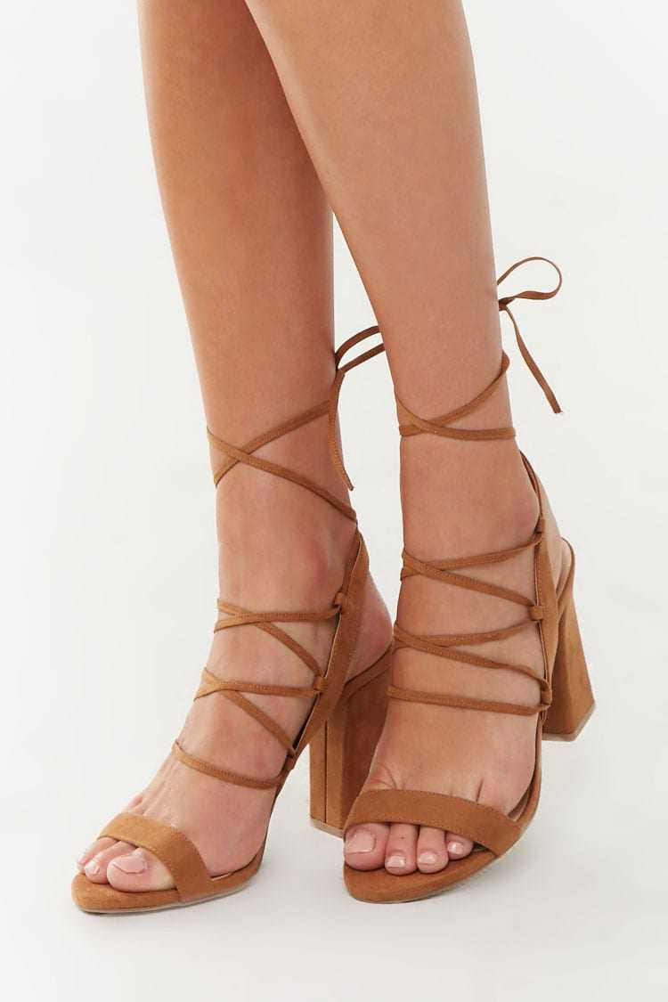Forever 21 Lace-Up Block Heels