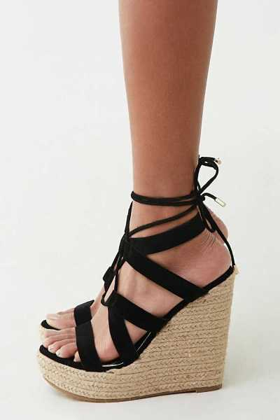 Forever 21 Lace-Up Espadrille Wedges