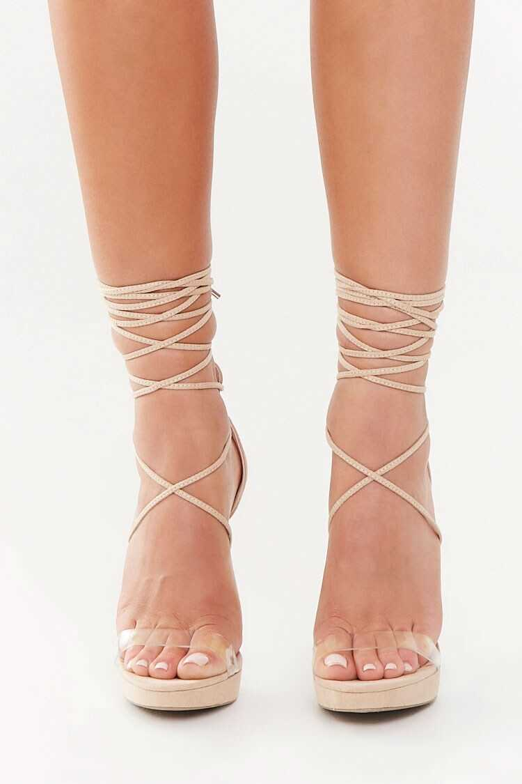 Forever 21 Lace-Up Stiletto Heels