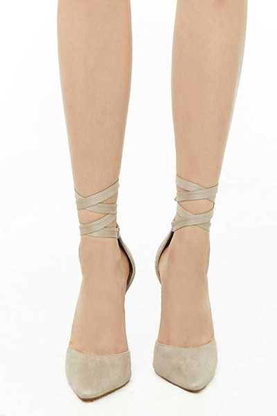 Forever 21 Lace-Up Stiletto Pumps