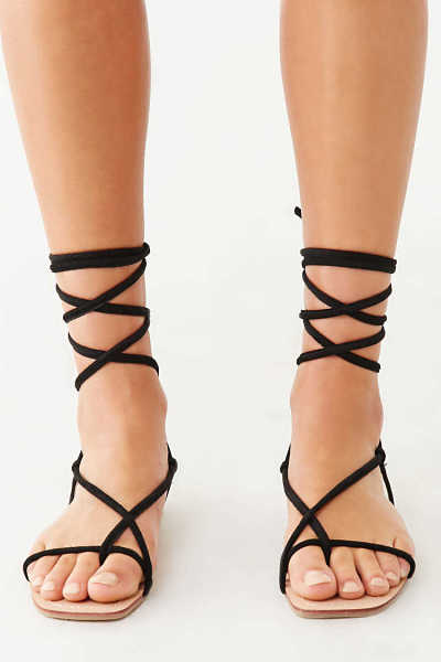 Forever 21 Lace-Up Thong Sandals