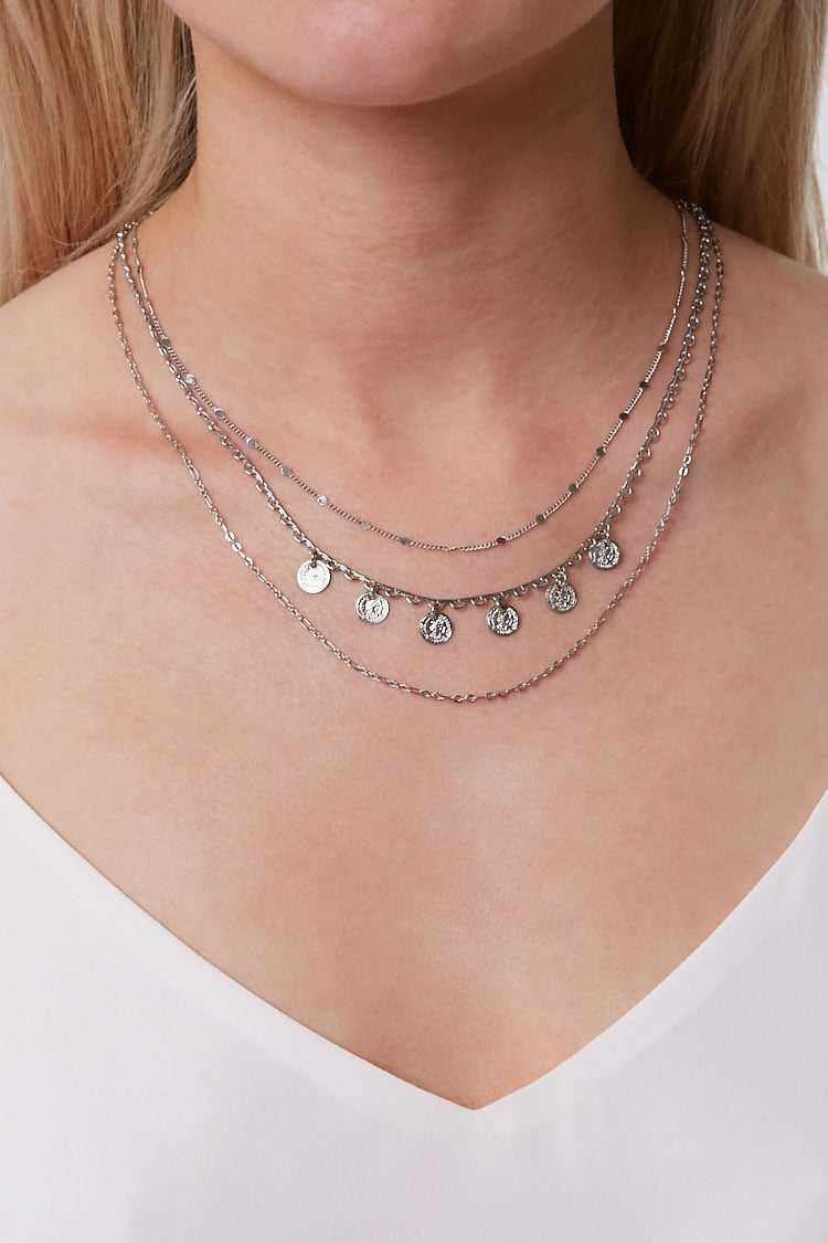Forever 21 Layered Charm Necklace