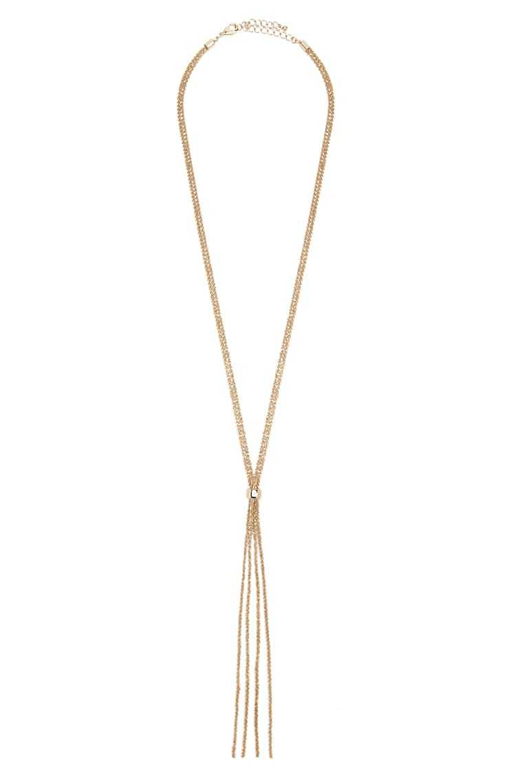 Forever 21 Layered Drop Box Chain Necklace