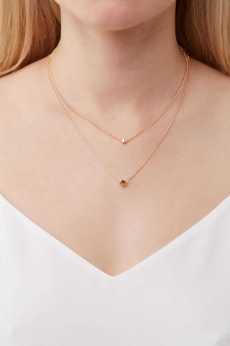 Forever 21 Layered Star Charm Necklace