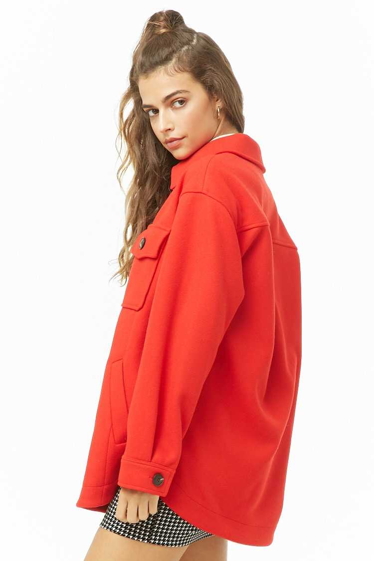 Forever 21 Longline Button-Front Coat