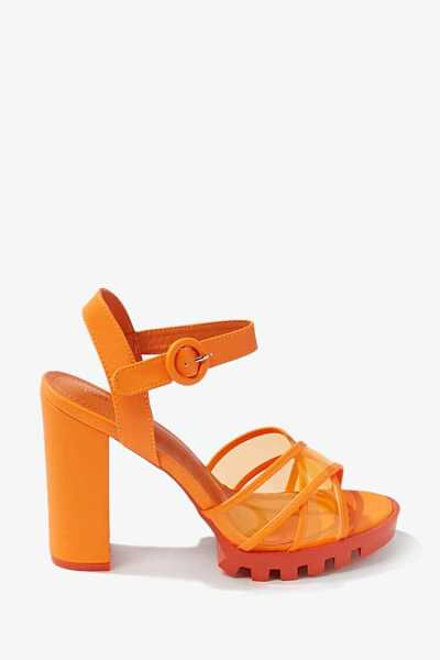 Forever 21 Neon Faux Leather Block Heels