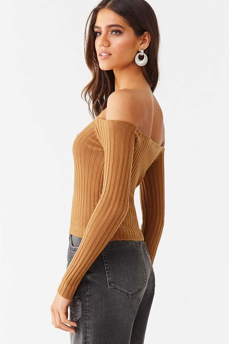 Forever 21 Off-the-Shoulder Crop Top