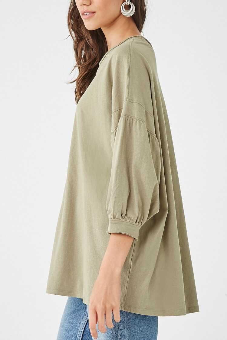 Forever 21 Oversized Puff-Sleeve Top
