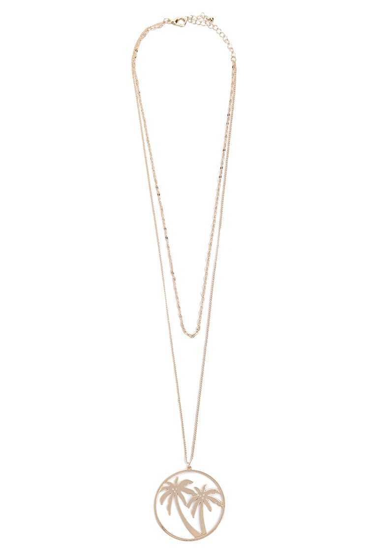 Forever 21 Palm Tree Pendant Necklace