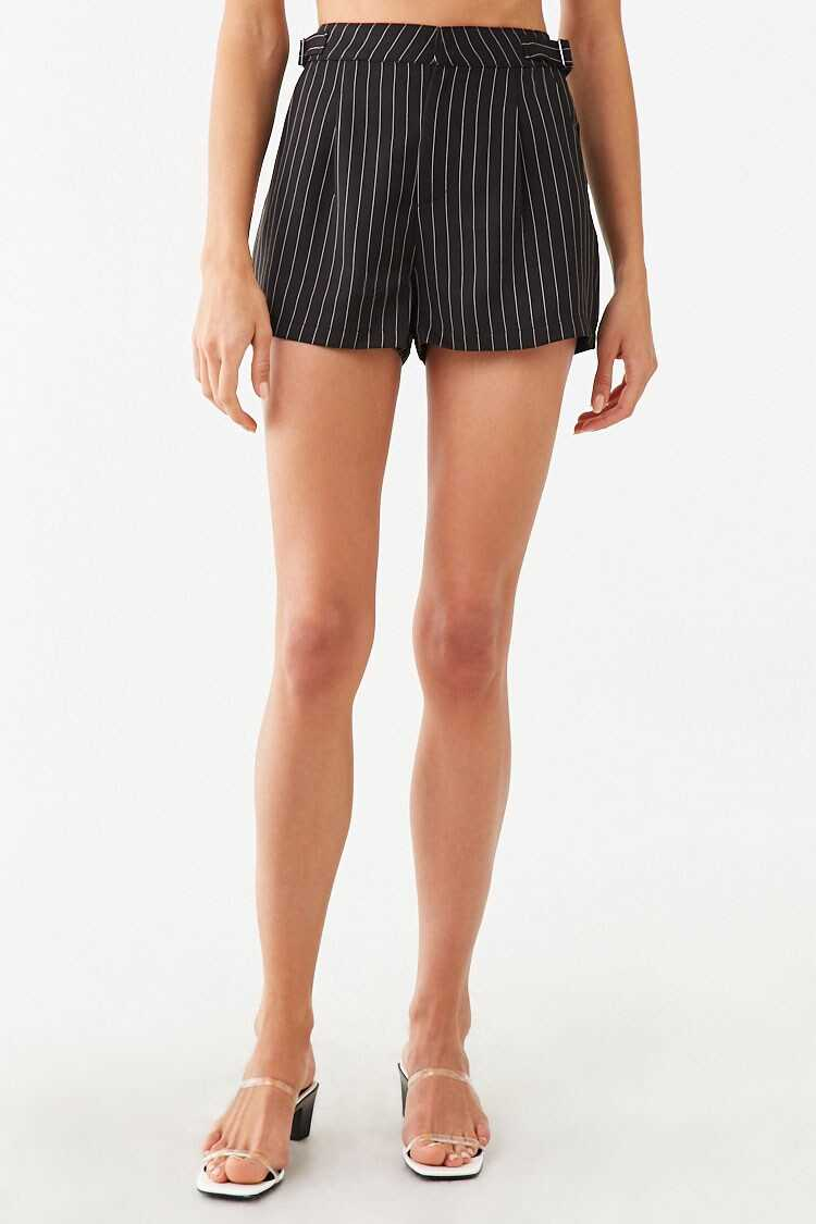 Forever 21 Pinstriped Adjustable Shorts