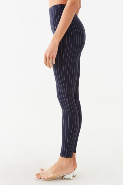 Forever 21 Pinstriped Knit Leggings