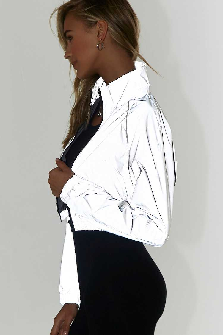 Forever 21 Piped Trim Cropped Windbreaker