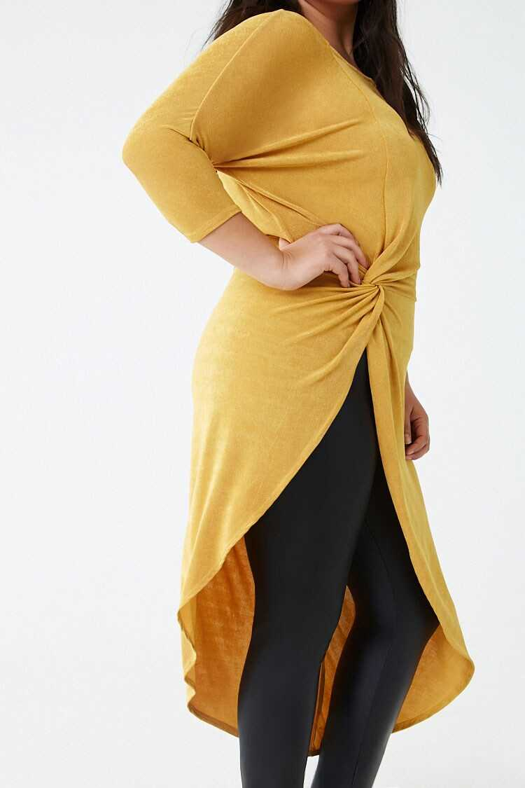 Forever 21 Plus Size Asymmetrical Twist-Front Tunic