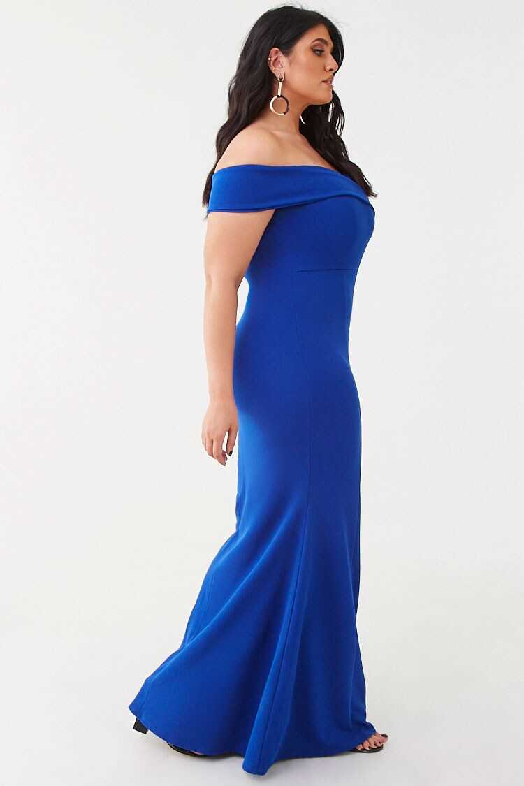 Forever 21 Plus Size Cap Sleeve Gown
