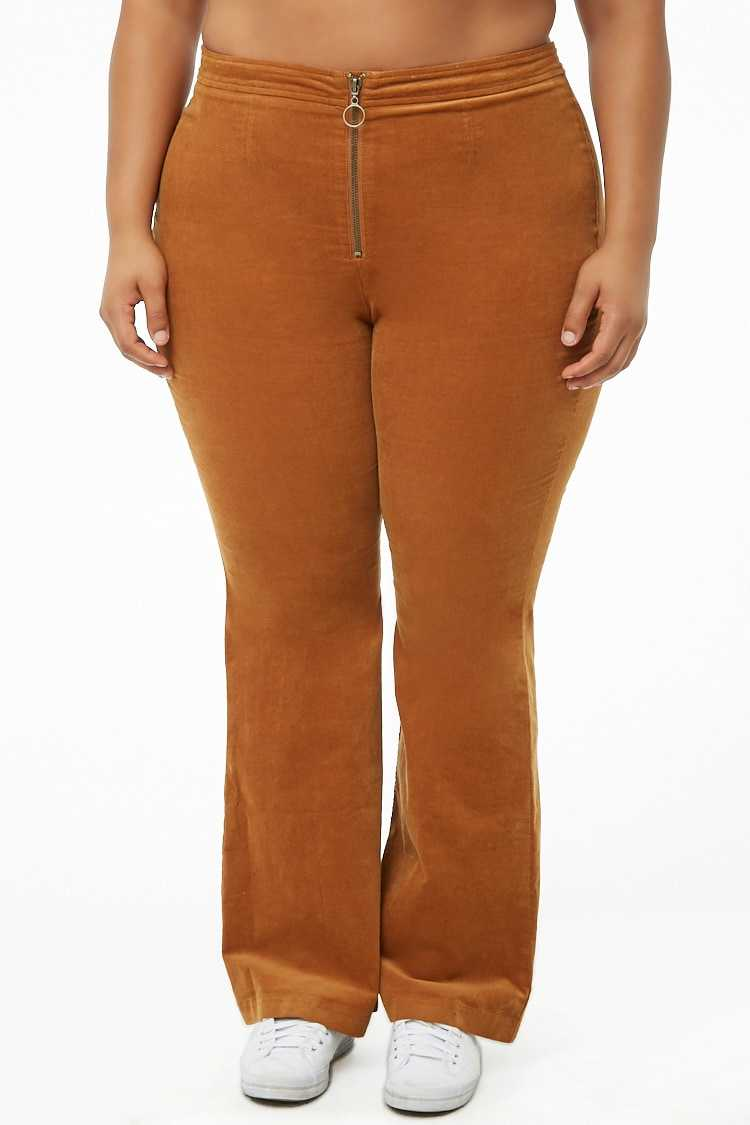 Forever 21 Plus Size Corduroy Flare Pants