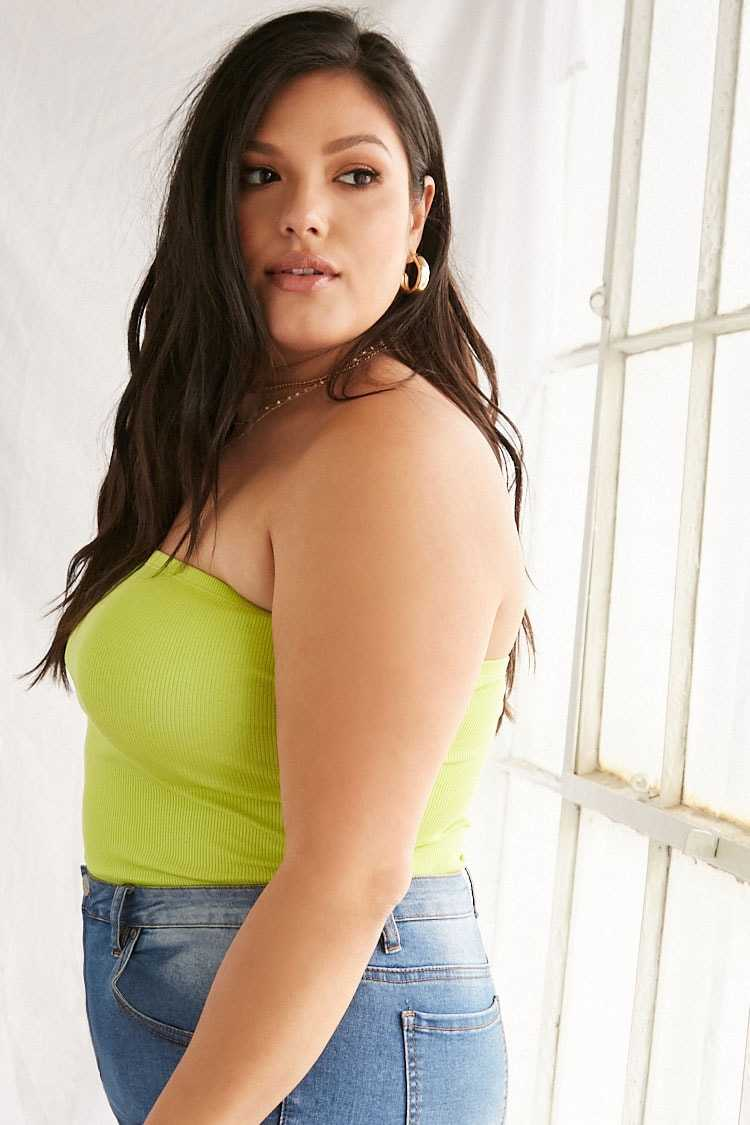 Forever 21 Plus Size Cotton-Blend Tube Top