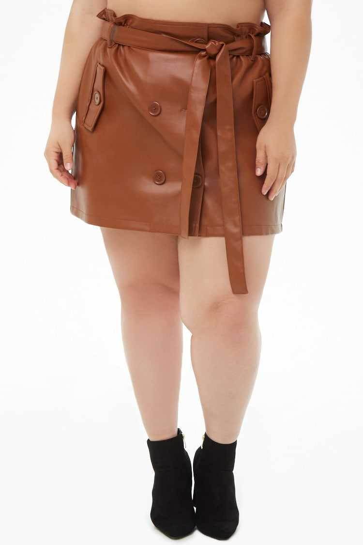 Forever 21 Plus Size Faux Leather Mini Skirt