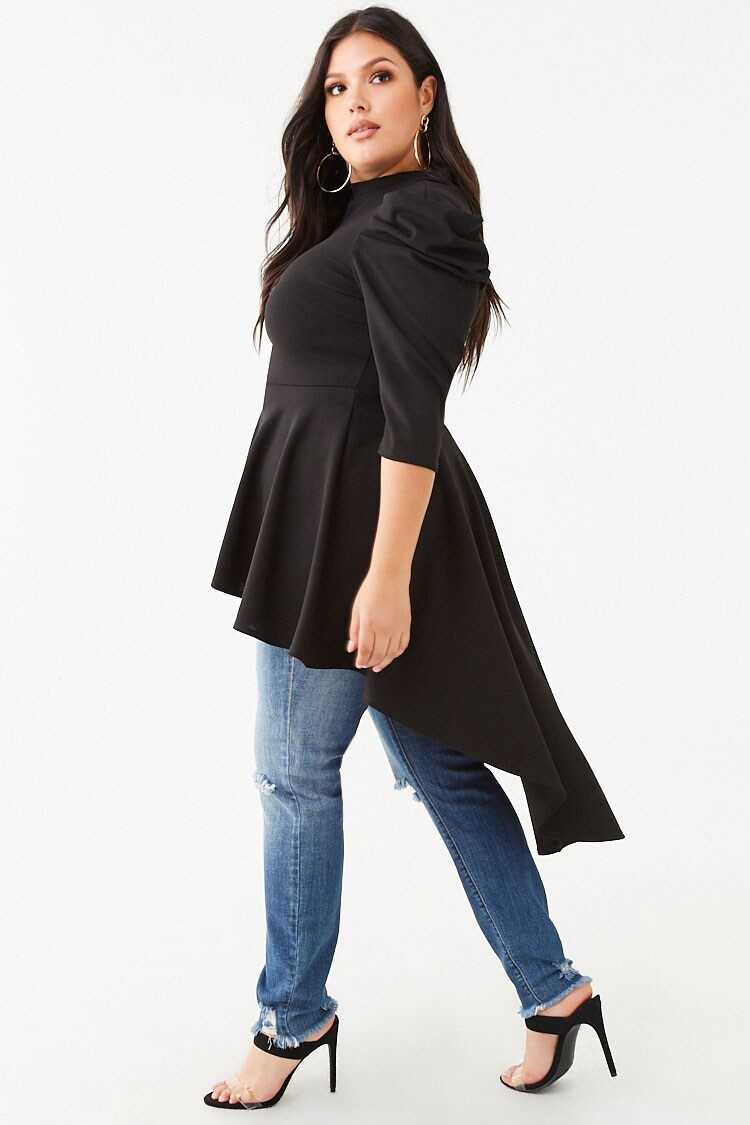 Forever 21 Plus Size Flounce High-Low Tunic