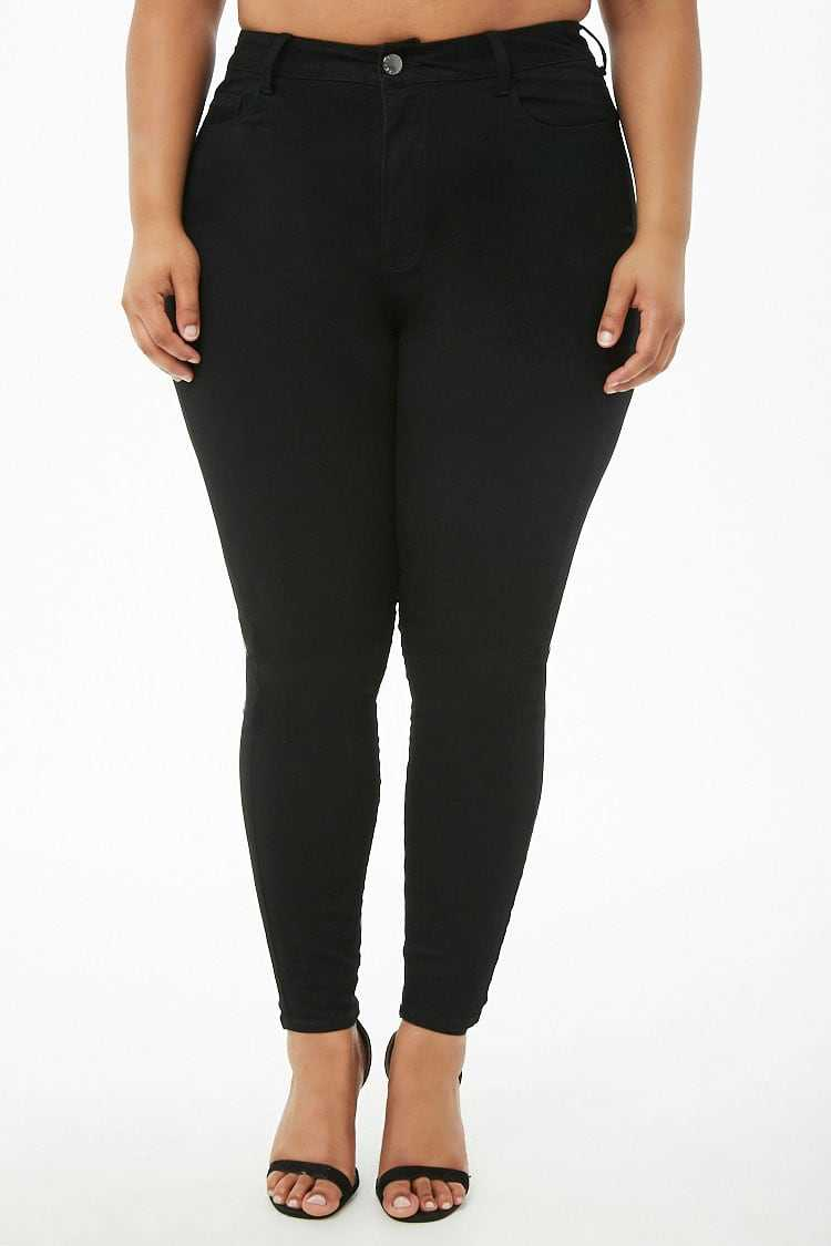 Forever 21 Plus Size High-Rise Skinny Jeans