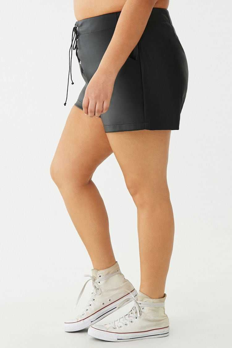 Forever 21 Plus Size Lace-Up Shorts