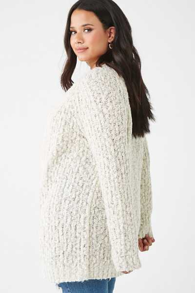 Forever 21 Plus Size Marled Open-Front Cardigan