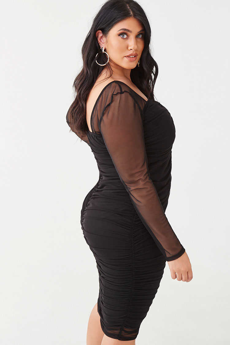 Forever 21 Plus Size Ruched Knee-Length Dress