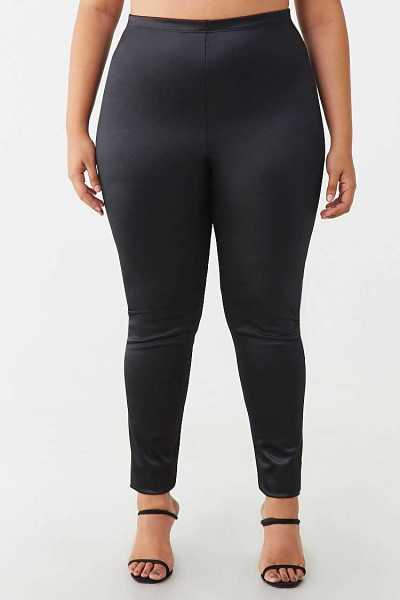 Forever 21 Plus Size Satin Leggings