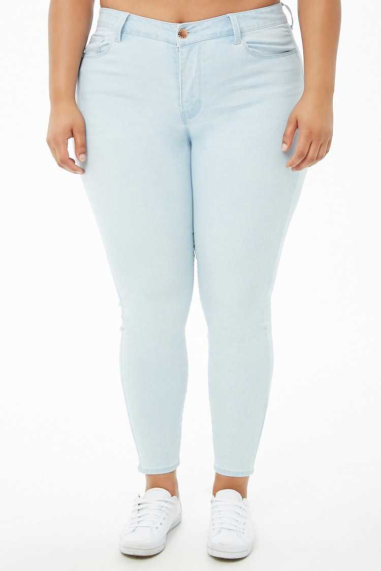 Forever 21 Plus Size Sculpted High-Rise Skinny Jeans