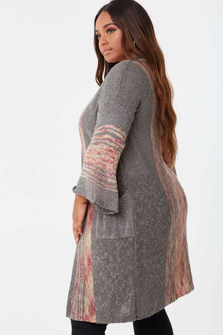 Forever 21 Plus Size Striped Cardigan